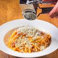 料理メニュー写真たっぷりパルメザンのアラビアータスパゲッティ