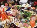 料理メニュー写真ズワイガニや旬の食材たっぷりのコース