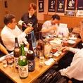 【宴会風景】居心地の良いテーブル席が◎1テーブル2名~6名OK!!