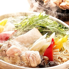 水炊きセット(赤鶏もも、鶏白湯スープ、鶏つみれ、きのこ)