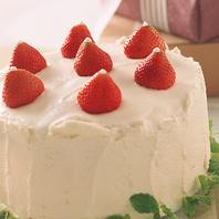 ケーキの持ち込み無料&手配も承ります!