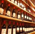 女子にも人気。当店の料理に合うワインを豊富に取り揃えております。飲み放題でも楽しむことが可能です。