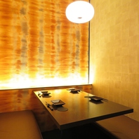 様々なシーンに最適な雰囲気の良い完全個室のお席ご用意