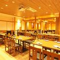 広々空間!2時間飲み放題付きコースは4,000円(税込)~ご用意!ぜひ自慢の逸品をゆったりしたお席でお楽しみ下さい。
