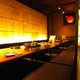 ゆったり寛げる掘り炬燵個室は会社宴会に最適です!最大宴会32名様までOK!