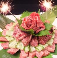 お祝いや歓送迎会に!肉ケーキでサプライズ★