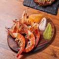 料理メニュー写真天使の海老鉄板焼き(一尾)