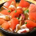 料理メニュー写真タコとトマトのアヒージョ