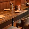 テーブル席は1名様~よりご案内可能!!平日仕事帰りのサク飲みやお食事で是非ご利用ください。