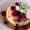 料理メニュー写真ミックスベリーパンケーキ