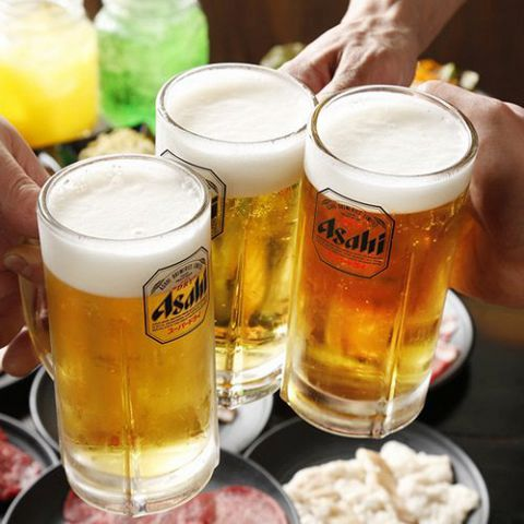 安安のアルコールドリンクは270円(税抜)~ご用意!ソフトドリンクは190円(税抜)!!生ビールはもちろん、女性に人気のカクテルやサワー、梅酒や焼酎、日本酒、ワインまで豊富にご用意しております!!