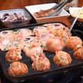 料理メニュー写真お席で焼くタコパセット
