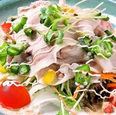 地豚の豚しゃぶ胡麻サラダ