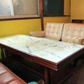 2階テーブル席。石で出来たテーブルにゆったりソファが大人な雰囲気の席。当店は6人以上もご案内可能です!【茶屋町・中崎町・誕生日・カフェ・女子会・ママ会・貸切・和】