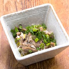 料理メニュー写真枝豆/もつポン/砂肝のネギだく塩レモン和え