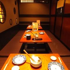 落ち着いた雰囲気の掘りごたつ個室は観光、大切な記念日など様々なご利用に最適です。