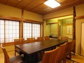 2階の個室は、10名様まで利用可能。居心地のいい空間で、大切な方との会食を。