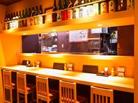 カウンター席もご用意♪岐阜駅内で焼き鳥、鶏料理を堪能