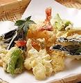 料理メニュー写真京野菜と海鮮天ぷら盛りあわせ