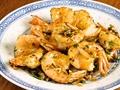 料理メニュー写真殻付き海老の塩、胡椒炒め揚げ