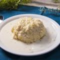 料理メニュー写真白い卵のオムライス ホワイト&チーズソース