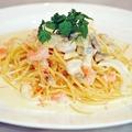 料理メニュー写真魚介のクリームパスタ