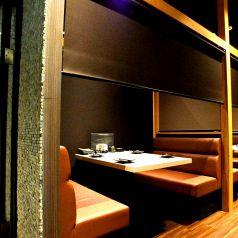 落ち着いた雰囲気の2~4名様用個室空間。