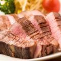 料理メニュー写真牛上タンの厚切り牛ステーキ