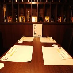 4名席は仲の良い友人同士でのお食事やお仕事仲間、コンパなど様々なシーンでご利用頂けます!6名席、8名席もご用意できます!