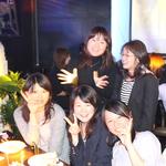 女子会、誕生日会はいつも盛り上がってます(^^♪コースは2280円~(^o^)/