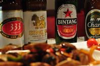 人気のアジアンビールも取り揃えております♪
