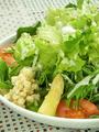 料理メニュー写真農場ガーデンサラダ(アイスプラント入り)/ラーメンサラダ