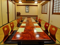 最大28名様入れる個室宴会可能なお部屋がございます。