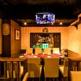 2名様~個室を用意。渋谷でワンランク上の飲み会をご希望のお客様にオススメです!某有名デザイナーが手掛けた空間造りの内装です。