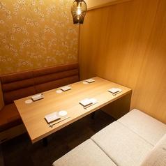 女子会におすすめ♪京の風情を感じる完全個室で楽しいひと時をお過ごしください。女子会におすすめのゆったりソファタイプ・6名様までご利用頂ける個室がオススメ!横浜での女子会にはもちろん、合コン・宴会・飲み会にどうぞご利用下さいませ。