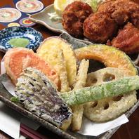 トッピングの天ぷらも充実☆揚げたてサクサクをどうぞ♪