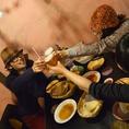 会社仲間や友人とカンパーイ!!ビールにはチキンやサラダの他にもインドおつまみが◎ディナー予約も随時受付中!!