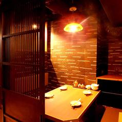 2名様~ご利用可能な完全個室席を完備!落ち着いた雰囲気でのご宴会,接待,デートにもおすすめ◎大変人気のお席となっております!