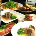 料理メニュー写真上質な60品のお料理が自由に選べる食べ飲み放題!! 前菜や炙り牛・牛タンの柔らか煮等豊富なラインナップ