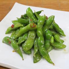 料理メニュー写真枝豆のガーリック炒め