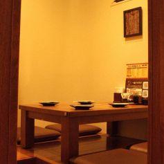 個室風のテーブル席で食べ放題・飲み放題