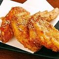 料理メニュー写真手羽の甘辛揚げ(6本)