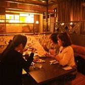 4名様のテーブル席は、女子会に最適♪会話が弾みます!