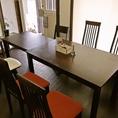 【MAX6人まで】人数に合わせて席の形も変更可能♪最大6名まで落ち着いた個室空間でお食事をお楽しみいただけます。