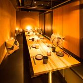 温かい灯りと洗練されたインテリアやグラスが演出する上質な空間。接待やご宴会など大人の雰囲気の店内でお食事をお楽しみください♪