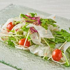NEW!! 大根と水菜の梅しらすサラダ