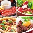 馬肉料理オールスター。ミネラルは牛肉や豚肉の3倍のカルシウム、鉄分(ヘム鉄)はほうれん草・ひじきより多く、豚肉の4倍・鶏肉の10倍。女性に嬉しい栄養素がつまった馬肉料理を是非ご堪能ください。
