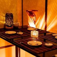 落ち着きのある「和」の完全個室空間で特別なひと時