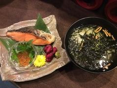 焼き鮭の茶漬け
