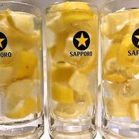 話題沸騰!生絞りレモンサワー500円